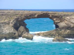Northeast Side of Oahu, Hawaii Laie Point Island Hole