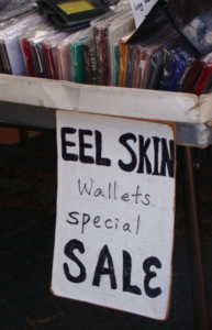Aloha Stadium Swap Meet Eel Skin Wallets