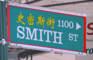 Smith Street Sign Chinatown Waikiki