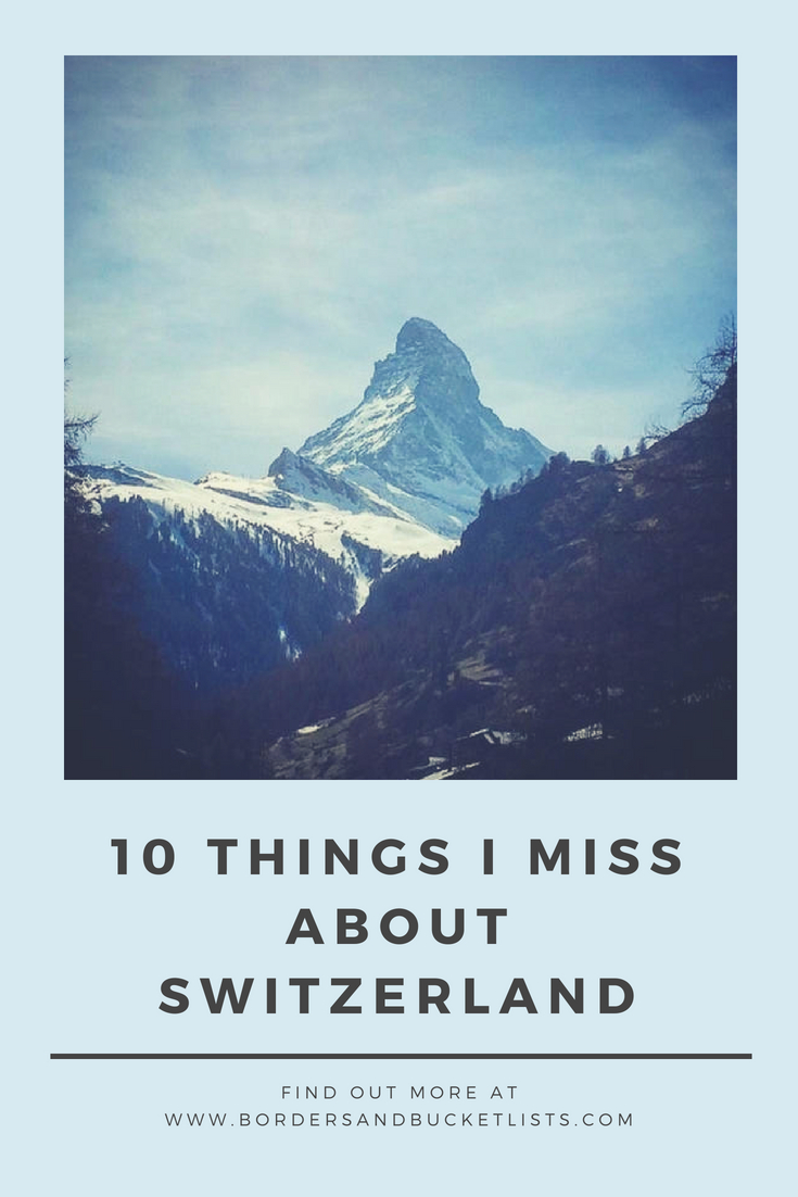 10 things I miss about switzerland pin