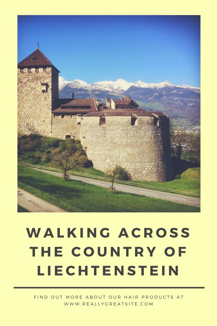 walking across the country of Liechtenstein pin