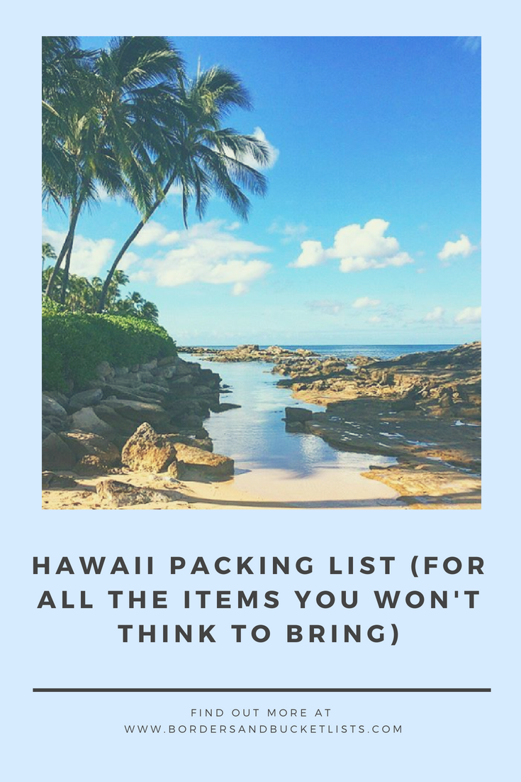 Hawaii Packing List