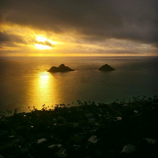 Hike to Lanikai Pillbox for Sunrise things to do on Oahu