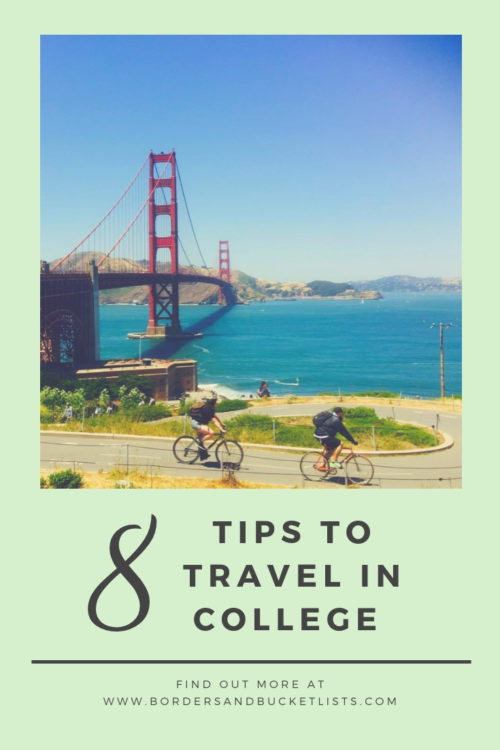 8 Tips to Travel in College #travel #college #collegelife #studyabroad