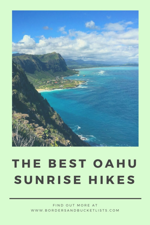 Best Oahu Sunrise Hikes Pin #oahu #oahusunrise #oahuhikes #hawaii #hawaiisunrise #hawaiihikes