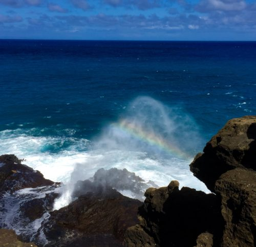 Watch the Water Spray Out of Halona Blowhole