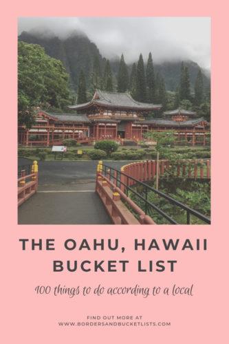 The Oahu, Hawaii Bucket List #oahu #hawaii #bucketlist #travel