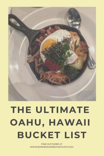 The Ultimate Oahu, Hawaii Bucket List #oahu #hawaii #bucketlist #travel