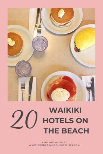 20 Waikiki Hotels on the Beach #waikiki #oahu #honolulu #hawaii #beach #beachhotels #waikikibeach #hotels