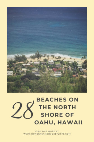 28 Beaches on the North Shore of Oahu, Hawaii #oahu #oahunorthshore #northshore #hawaii #pipeline #surf