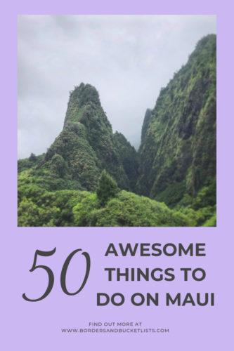 50 Awesome Things to Do on Maui #maui #hawaii #mauitravel #mauibucketlist