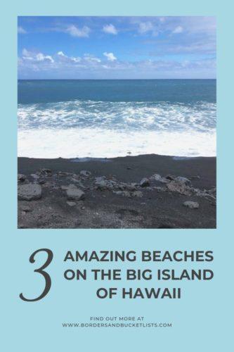 3 Amazing Beaches on the Big Island of Hawaii #hawaiibeach #bigisland #hawaii