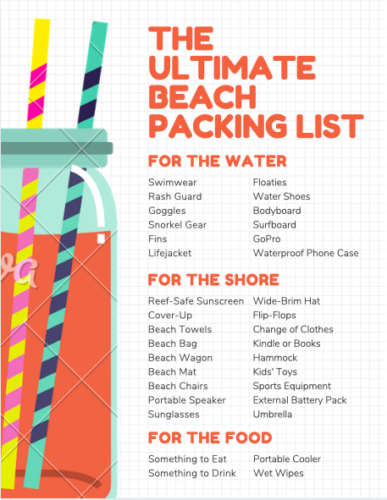 The Ultimate Beach Packing List #beach #packing #packinglist #beachtrip