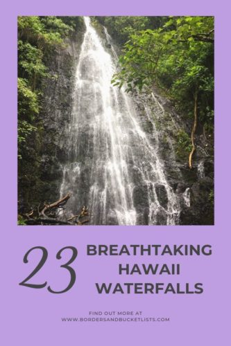 23 Breathtaking Hawaii Waterfalls #hawaii #waterfall #oahu #maui #molokai #bigisland #kona #hilo #kauai