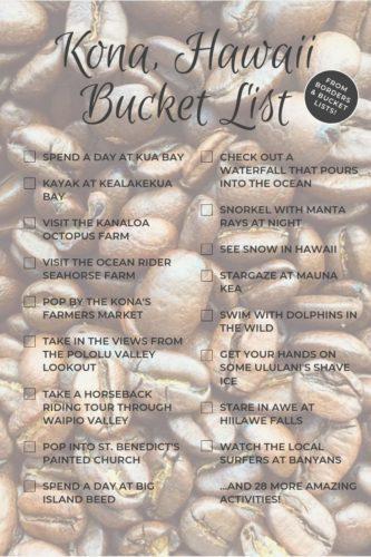 Kona, Hawaii Bucket List #kona #hawaii #bigisland #bucketlist