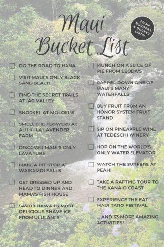 Maui Bucket List #maui #hawaii #bucketlist #roadtohana #hana #lahaina #kihei #kahului