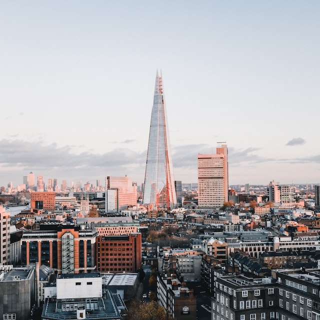 glass shard building rising above London skyline things to do in London London bucket list