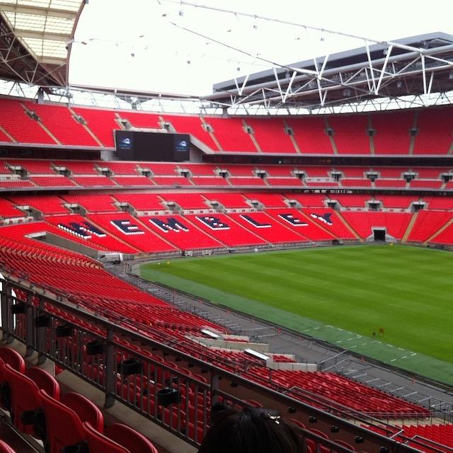 red seats of Wembley stadium